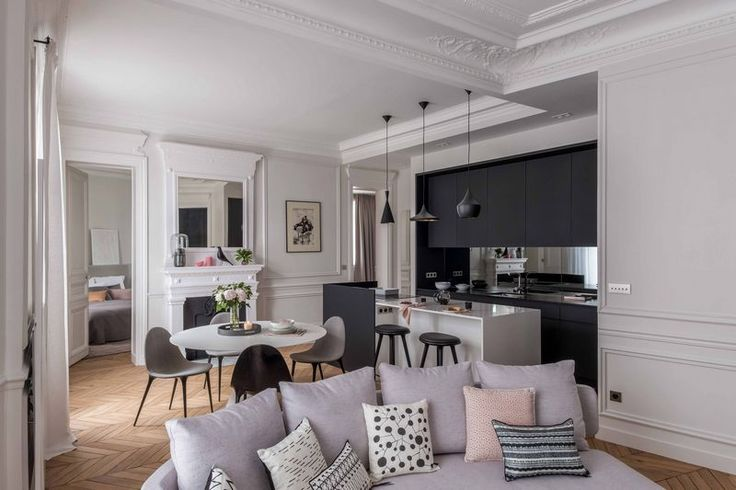 Transformation and modernization of a Haussmann apartment by Agence Véronique Cotrel