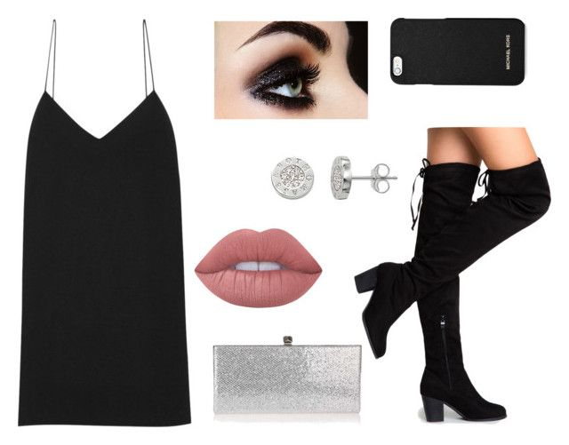 New Year's Eve by laczolaura on Polyvore featuring polyvore, fashion, style, The Row, Jimmy Choo, Thomas Sabo, MICHAEL Michael Kors, Lime Crime and clothing