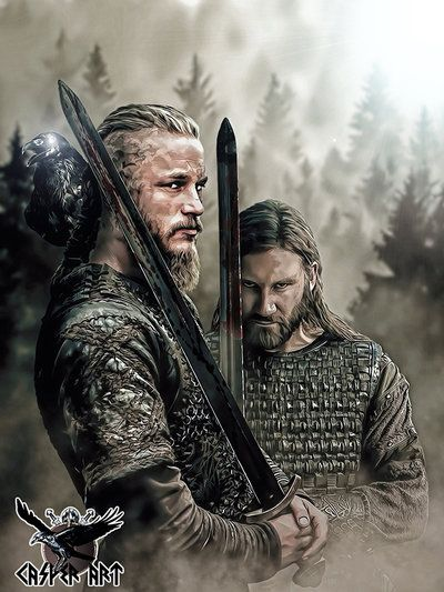 Vikings Ragnar and Rollo by thecasperart on DeviantArt