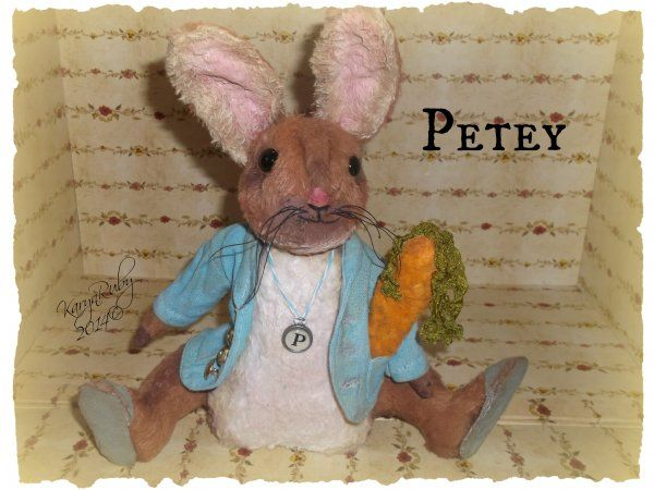 Petey 8 inch Viscose or Mohair Rabbit $17.00