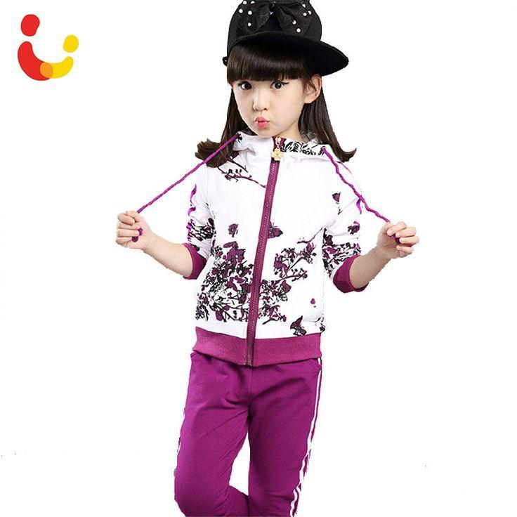 Купить товар2016 Осень Детская Одежда Для Девочек Куртка Цветочные Дети…