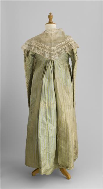 Striped Taffeta Dress, Musée de la Voiture, Compiègne