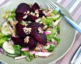 Walnut salad, Beets and Salads on Pinterest