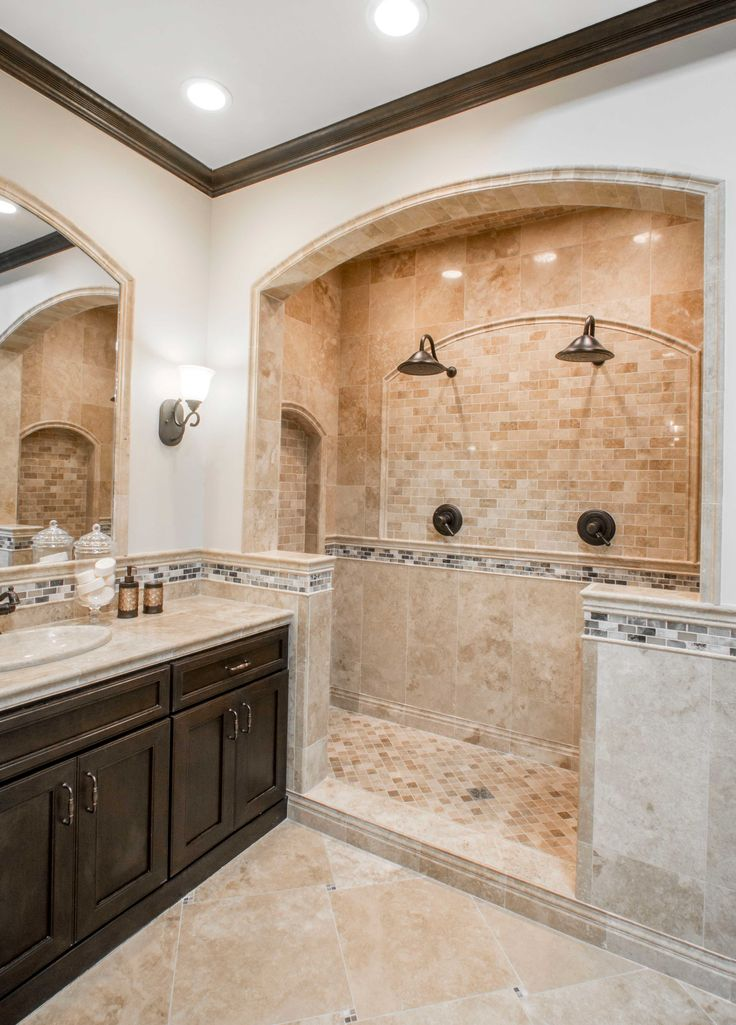 Best 25 brown tile bathrooms ideas on pinterest brown for Travertine tile in bathroom ideas