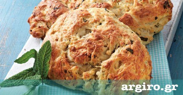 Τυρόψωμο με φέτα και δυόσμο από την Αργυρώ Μπαρμπαρίγου | Με αυτή τη συνταγή βγαίνουν 4 τυρόψωμα. Προτιμήστε τα ζεστά, είναι υπέροχα!