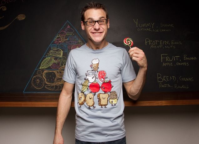 """""""Food Pyramid"""" - Threadless.com - Best t-shirts in the world"""