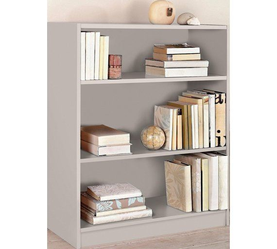 Home Maine Small Extra Deep Bookcase Putty At Argos Co Uk