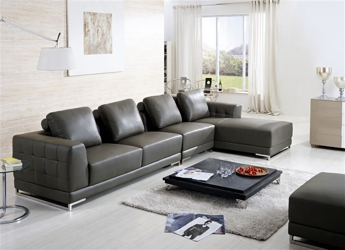Florio 4 Pieced Leather Sectional