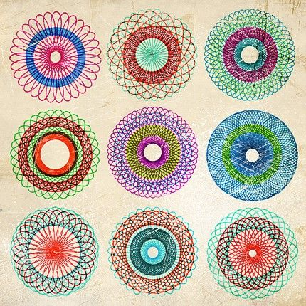 Remember Spirograph?? Simple fun and beauty. Funny how long we could remain entertained by a simple thing as this then.