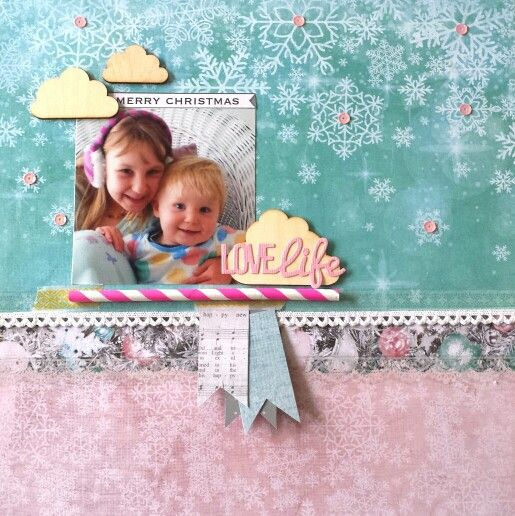 Kaisercraft : Silver Bells Collection : DT finalist entry 2015 / 16 : Love Life layout by Amanda Baldwin