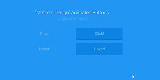 Pure css material design button hover animation design for Material design table css