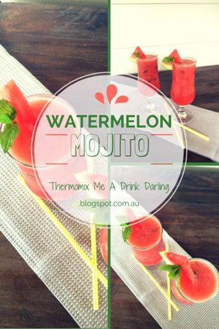 Thermomix Me A Drink Darling: Watermelon Mojito