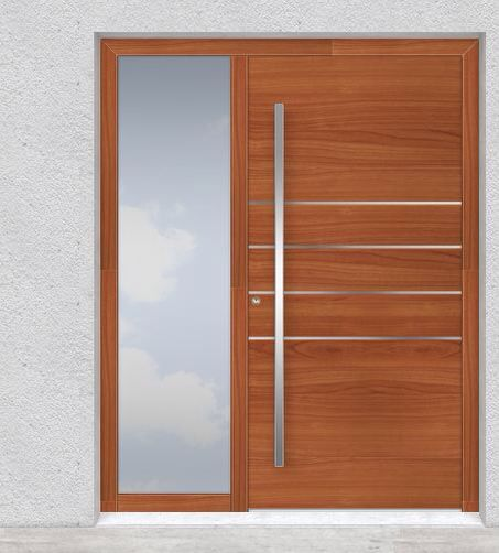 RK doors - cherry curved handle