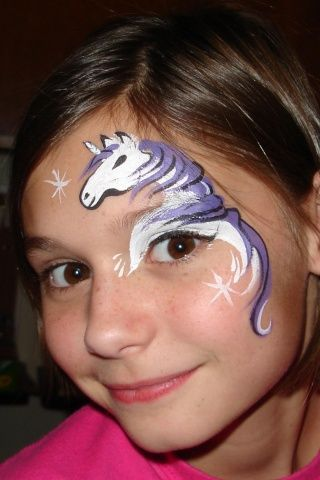 Horse Face Paint Would Love To Try Something Like This It Okay With You Angie Painting Ideas For Kids Pinterest