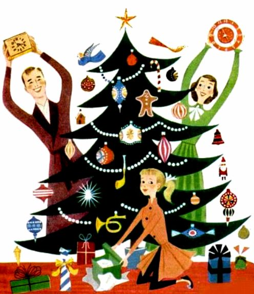 Clocks For Christmas! ~ ca. 1950s
