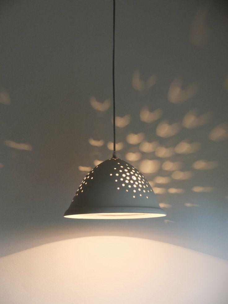 White ceramic lighting, ceiling lighting, hanging lights, hanging lamp, modern light fixture, modern light, pendent light fixture,Bell shape by Gallight on Etsy