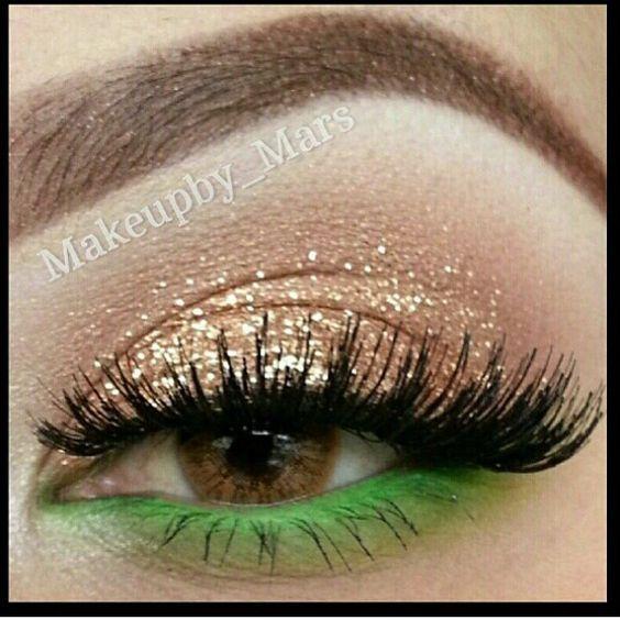 Gold-Green   Cute St Patricks Day Makeup Ideas