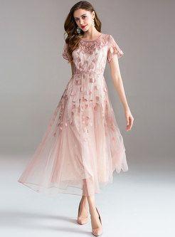 3e8389b2a645 Dresses   Maxi Dresses   Elegant Long Sleeve Lace Embroidered Cocktail Dress