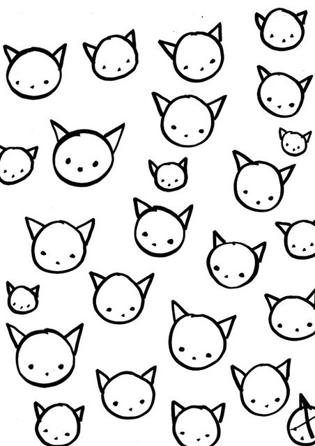 cats pattern by ashley goldberg