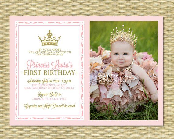 pink and gold princess first birthday