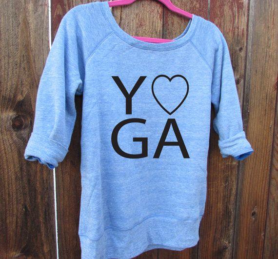 Yoga Slouchy Weithalsflaschen Pullover Pulli. von WorkItWear