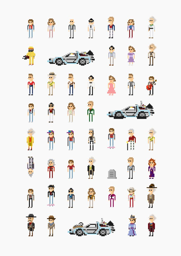 Back to the Future - 8-Bit Characters - Fitz Fitzpatrick