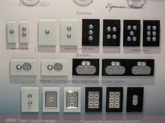 clipsal glass light switches - Google Search: