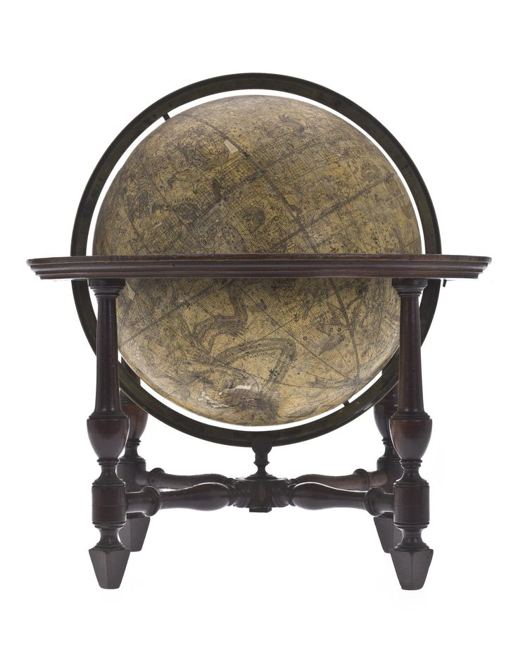 Celestial globe, on a table stand with four legs, by W. Bardin, Fleet Street, London, 1785
