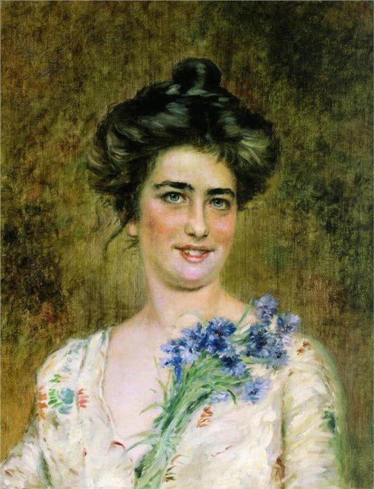 Женский портрет (Ю.П.Маковская).К.Маковский