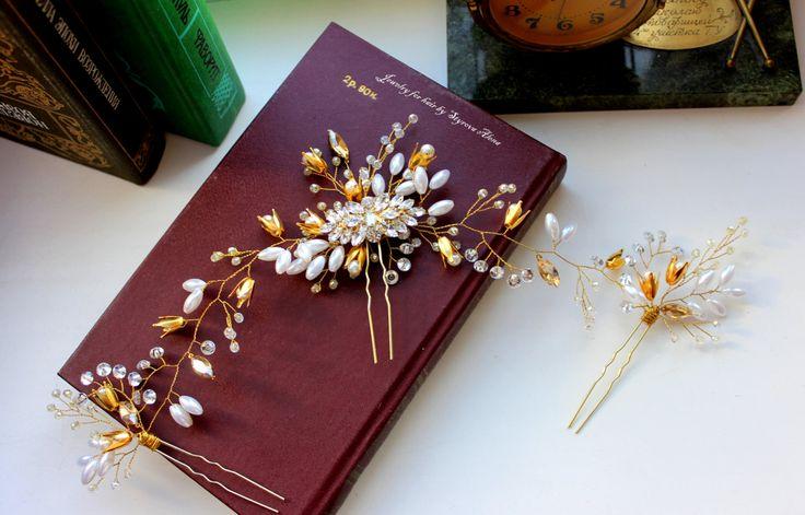 Bridal Wreath Bridal crown moonstone Bridal Vine Wedding Vine Gold Vine by Jewelryforhair on Etsy