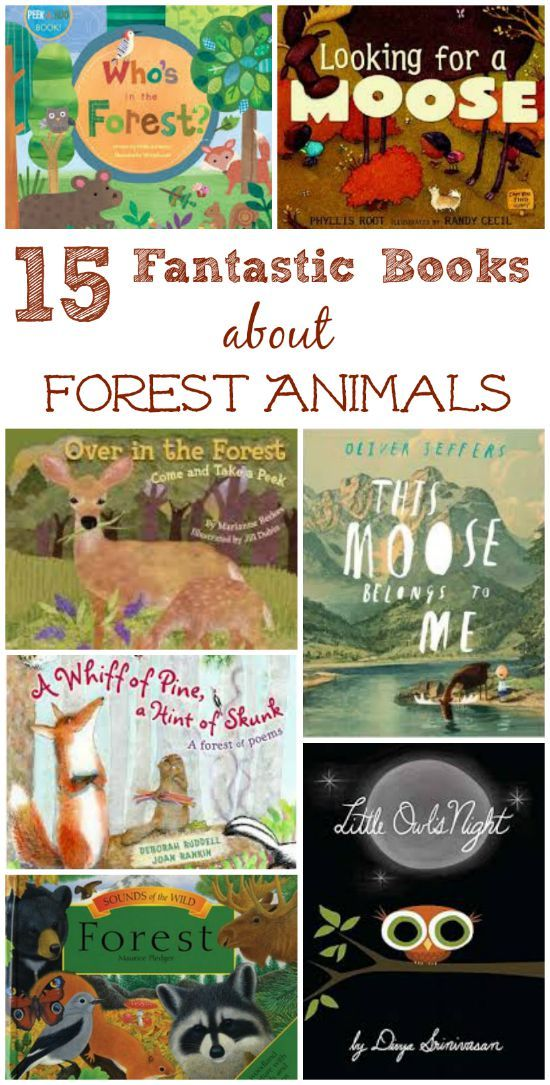 This is a great list of books that can be used to teach students about animals that live in the forest.