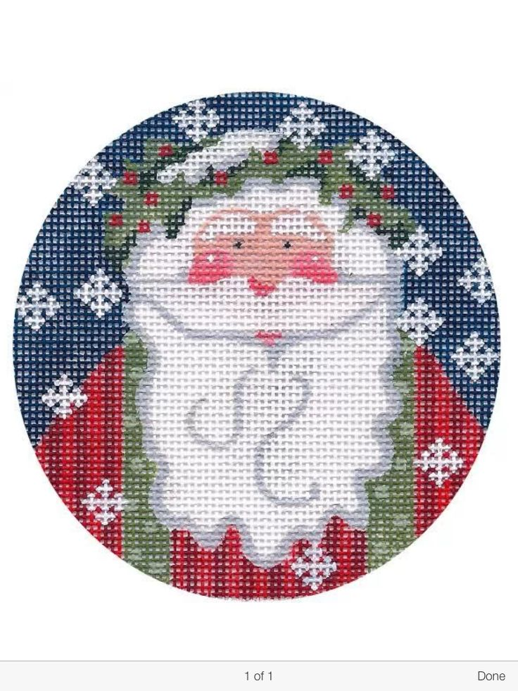 Old Fashioned Santa Cross Stitch