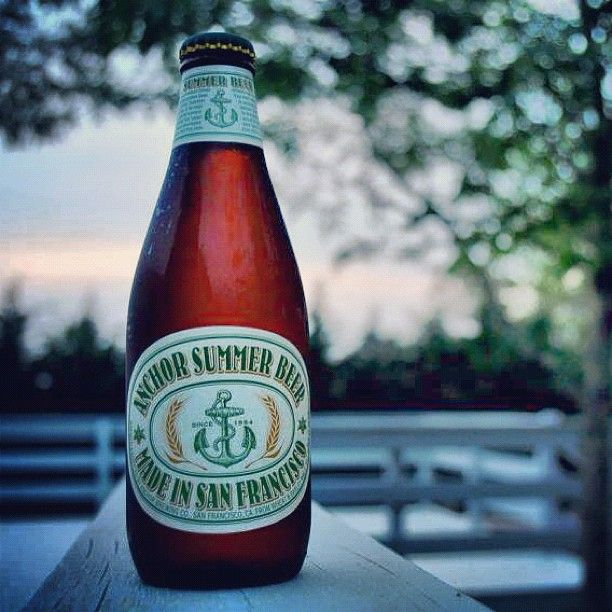 Anchor Summer Beer - one of our favorite summer offerings.  A summer beer with real flavor!