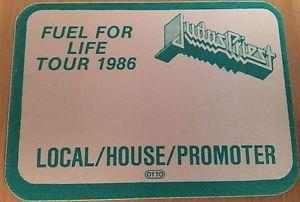 a pase de tela ticket entrada judas priest fuel tour 1986 promoter