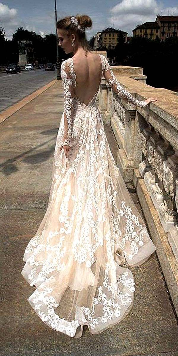 Chic Long Sleeved Wedding Dresses ❤ See more: http://www.weddingforward.com/long-sleeved-wedding-dresses/ #weddings