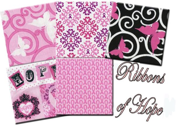 Ribbons of Hope - a Breast Cancer Awareness Collection: Awareness Ideas, Breast Cancer Awareness, Awareness Collection, Ribbons Bca, Support Fabrics, Fabrics Collection, Breast Cancer Support