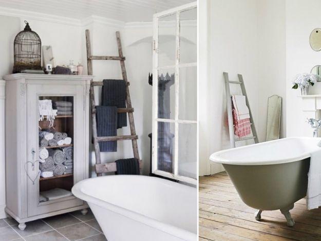 Scaletta In Legno Per Bagno : Scale porta asciugamani per il bagno bathrooms arredamento