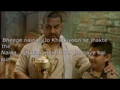 Naina - Dangal Movie (WITH LYRICS) Aamir Khan Singer Arijit Singh - YouTube