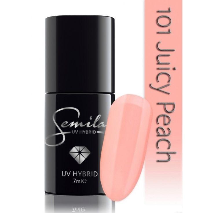 Ημιμόνιμο μανό Semilac - 101 Juicy Peach 7ml - Semilac | Προϊόντα Μανικιούρ - Πεντικιούρ Semilac & Ημιμόνιμα.