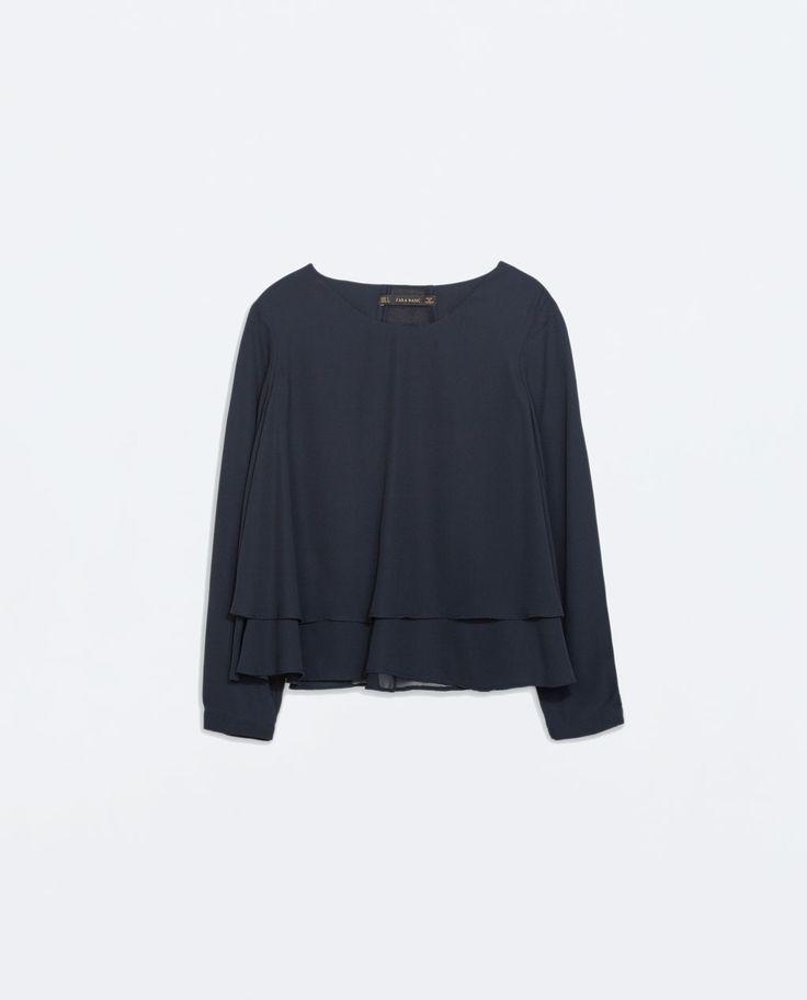 Imagen 5 de TOP DOBLE CAPA COMBINADO de Zara