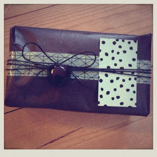 Mint and black gift wrapping...