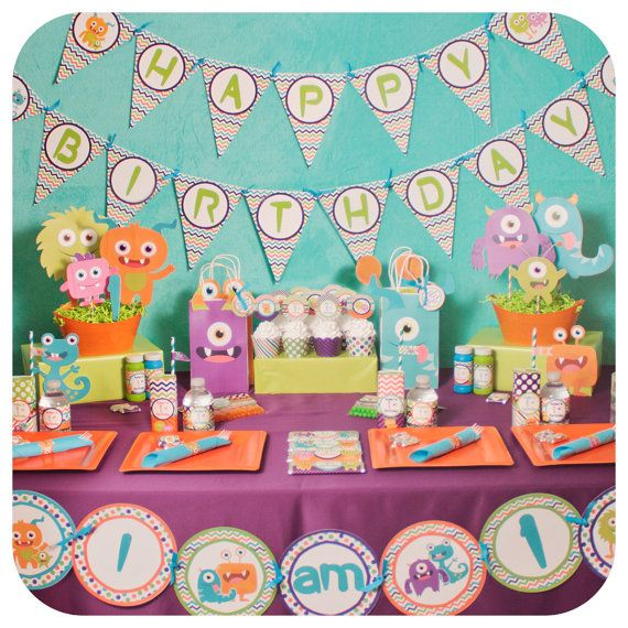 Little Monsters; Little Monsters Party; Monster Birthday Party; Little Monsters…