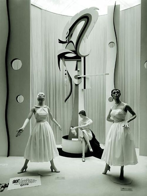 Fashion for KaDeWe department store, Berlin, 1958.