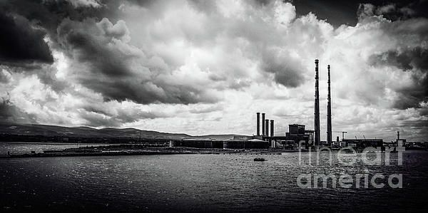 Dublin's Poolbeg Chimneys in B&W. Visit my photo gallery and get a beautiful Fine Art Print, Canvas Print, Metal or Acrylic Print OR Home Decor products. 30 days money back guarantee on every purchase so don't hesitate to add some Irish Magic in your home or office.