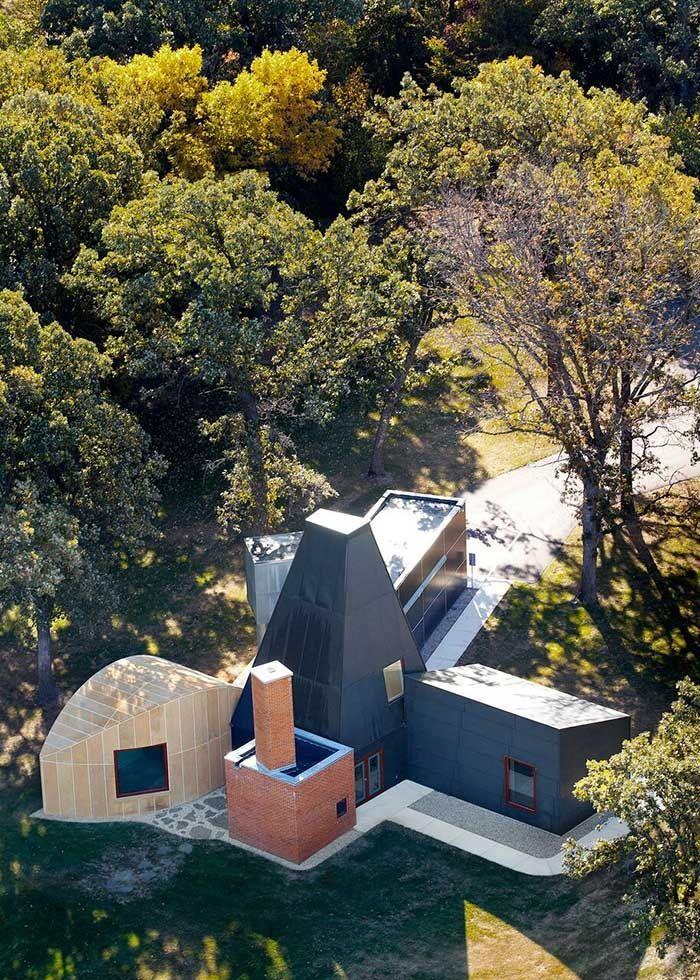 L'ancienne maison d'invités de Mike Winton, homme politique et collectionneur d'art américain, signée Frank Gehry