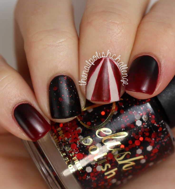 16 best nail art images on pinterest nail art goth nails and hair the nail polish challenge american horror story nail art with delush polish prinsesfo Choice Image