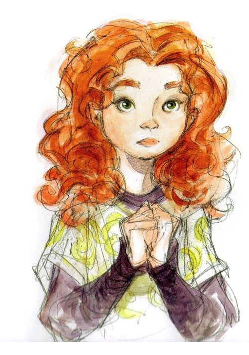 Rare Merida concept art. - she looks a lot younger