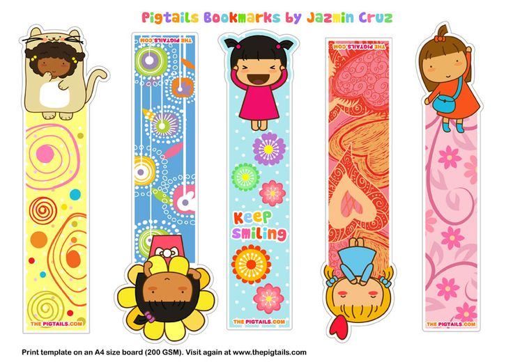 Pigtails bookmarks | The Pigtails CUTE free printable bookmarks! to encourage reading ;)