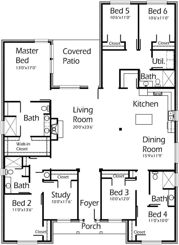 Best 25 6 Bedroom House Plans Ideas Only On Pinterest 6 Bedroom House Plans New House Plans 1 Bedroom House Plans