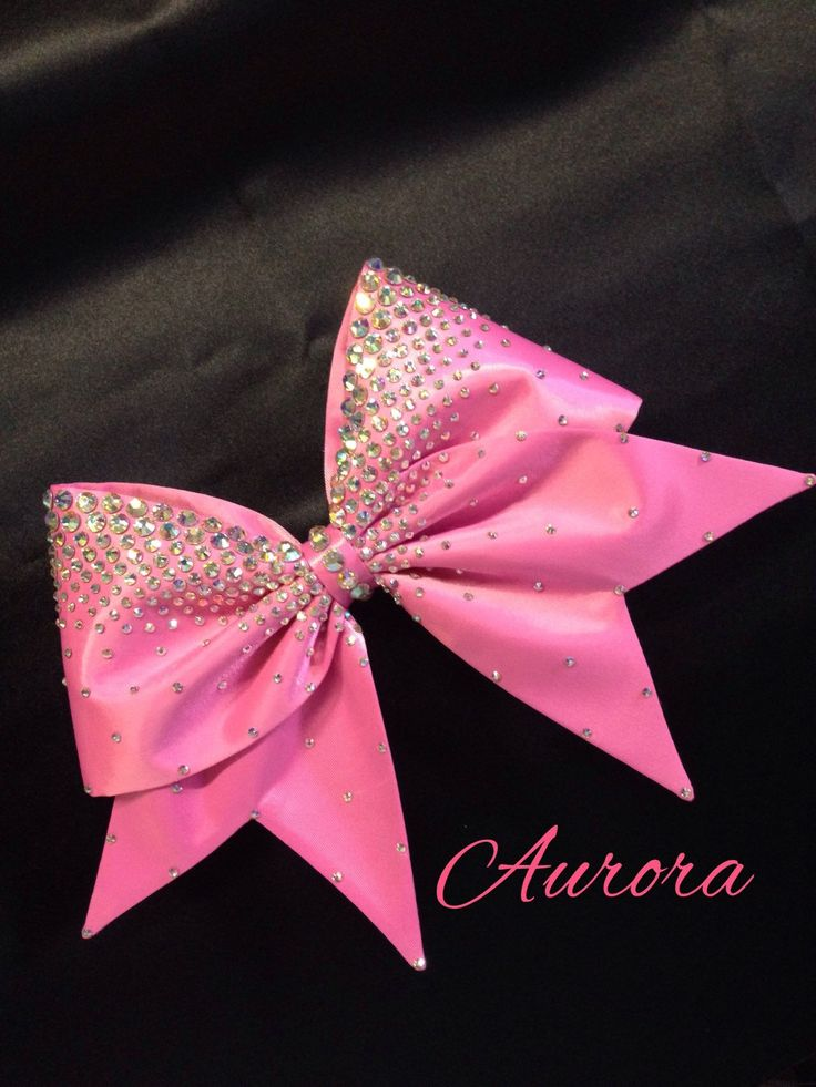 Aurora - Hand Sewn Fabric Cheer Bow by BlingItOnDesignsCA on Etsy https://www.etsy.com/listing/231373654/aurora-hand-sewn-fabric-cheer-bow